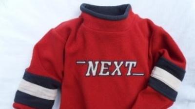 sweterk i bluza NEXT na 98-104 cm dla chłopca