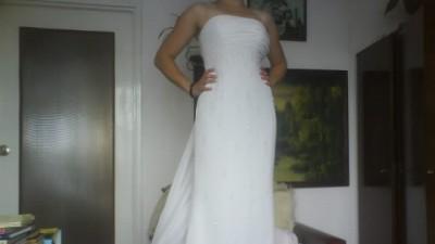 Szykowna suknia ślubna z Edynburga