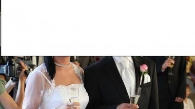 Szyta suknia ślubna + bolerko z koronki wzrost 160 cm obwód biustu 97 cm rozmiar