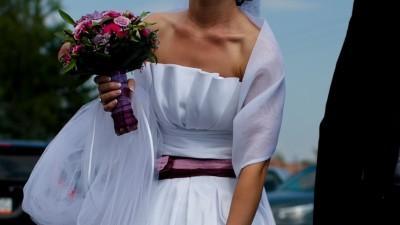 Tanio Piękna suknia ślubna