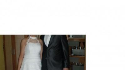 Tanio Piękna Suknia Ślubna +bolerko