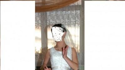 tanio sprzedam skromną suknię ślubną