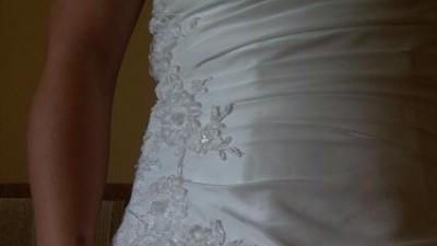 Tanio sprzedam śliczną suknię ślubną
