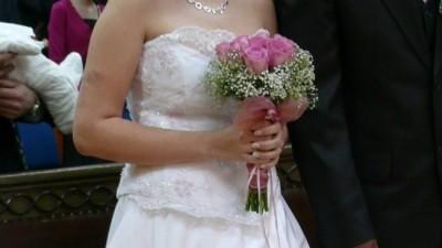 tanio sprzedam suknię ślubną rozm.38/40 cena 400zł