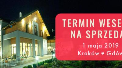 TERMIN WESELE last minute! Kraków - Gdów - Łapanów + DJ, fotograf Atrakcyjna cena!!! 1 MAJA 2019