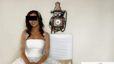 Tiulowe bolerko ślubne ecru jak Jesus Peiro, do Nurii