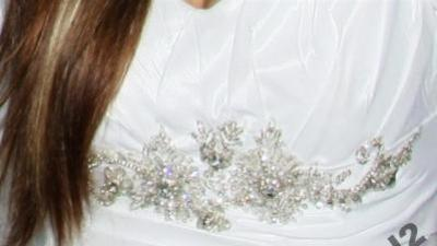 Unikatowa suknia ślubna, biała, rozm.38