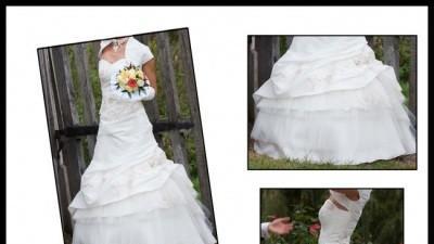 Urocza suknia ślubna Regina Diamante