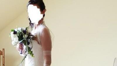 urocza suknia ślubna White One 176