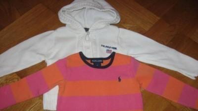 Uroczy sweterek US POLO ASSN +RALPH LAUREN 2T