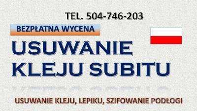 Usuwanie kleju po płytkach, cennik tel. 504-746-203, Wrocław, skuwanie podłogi. Remonty mieszkań.