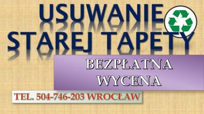 Usuwanie starej tapety tel. 504-746-203, zerwanie starych tapet, cena.Wrocław, Skuwanie starych płytek, desek podłogowych. Demontowanie wyposażenia łazienki, kabiny prysznicowej, toalety.  Demontaż i wykucie ościeżnicy, futryny, drzwi