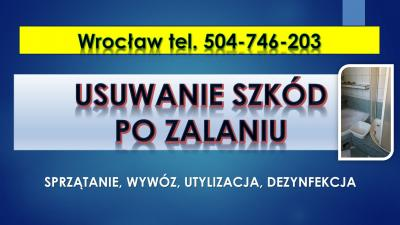 Usuwanie szkód po zalaniu, cennik tel. 504-746-203, Wrocław. Dezynfekcja pomieszczeń.Sprzątanie lokalu po zalaniu, po wybiciu toalety, kanalizacji, studzienki.Dezynfekcja pomieszczenia po szambie, fekaliach.