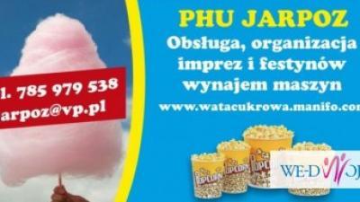 wata cukrowa popcorn wynajem maszyn na imprezy