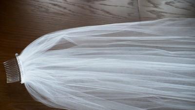 Welon ślubny długi i krótki