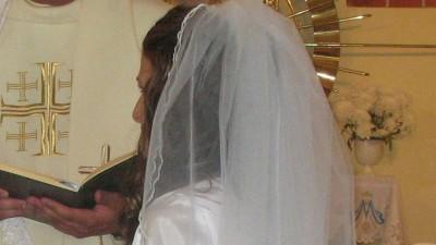 Welon ślubny - dwuczęściowy odpinany (krótki i długi)