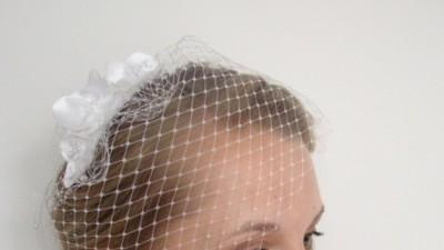 Woalka ślubna biała, delikatna