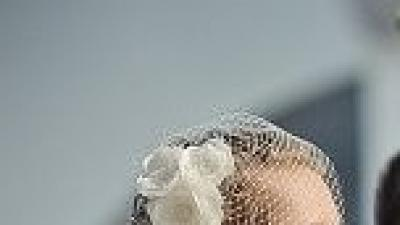 Woalka ślubna śmietankowa biel