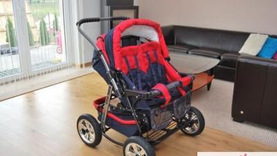 Wózek dla bliźniąt Adbor Ring Duo-stan rewelacyjny