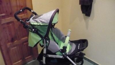 Wozek firmy BABY DESING - gondola , spacerówka,śpiworek ,pompka