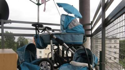Wózek fotelik 3w1 BOLDER 4 MORSKI -jak  MUTSY QUINNY