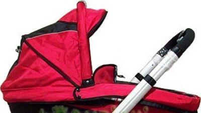Wózek głęboko-spacerowy CONECO V3, czerwony NOWY