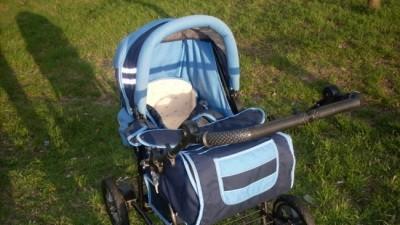 Wózek granatowo-niebieski 3-funkcyjny
