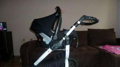 Wózek Tutek Grander Zebra + nosidełko Maxi Cosi + GRATISY
