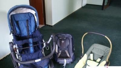 wózek wielof. Emmaljnga+fotelik+łożeczko+komoda+leżaczek