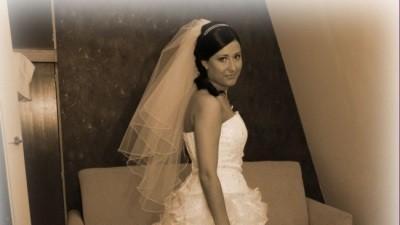 wyjątkowa suknia ślubna- uszyta z kwiatów