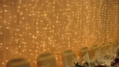 wypożyczę kurtynę świetlną 3x2m do dekoracji ściany dla pary młodej