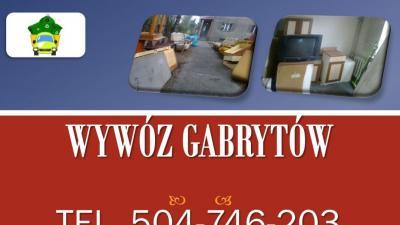 Wywóz gabarytów, tel 504-746-203, Wrocław, odbiór odpadów gabarytowych.Wywóz odpadów gabarytowych.  graty i gabaryty  - meblościanki, wersalki, fotele, narożniki, sofy, kredens, komody, szafki, stare dywany, materace.
