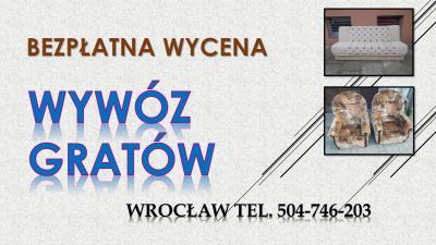 Wywóz gratów, cena, Wrocław, tel. 504-746-203, utylizacja, rupieci. Wywóz starego parkietu desek z podłogi, kafli, parkietu i boazerii, Odbiór odpadów, śmieci, mebli, palet, gruzu, palet, Kontener ,załadunek