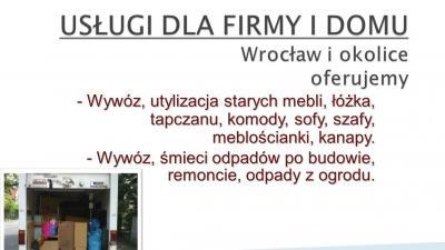wywóz mebli Wrocław, tel. 504-746-203, TANIO, utylizacja mebli Wrocław sprzątanie,opróżnianie mieszkań,