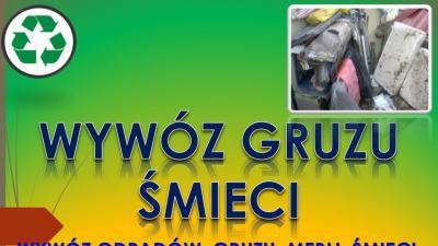Wywóz odpadów z remontu, tel 504-746-203, sprzątanie śmieci, cena, Wrocław,