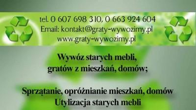 wywóz starych mebli,gratów z mieszkań,Wrocław,tel 607-698-310,opróżnianie piwnic