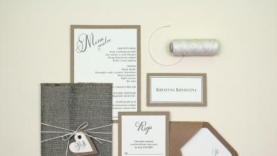 Zaproszenia ślubne - Pracownia Celegarth
