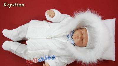 Zimowe kompletne dla chłopca ubranko do chrztu