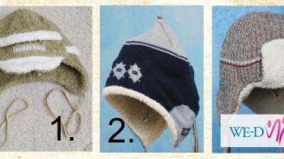 Zimowe UŻYWANE  czapki. Każda po 15 zł