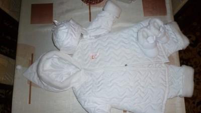 zimowy komplet chrzest