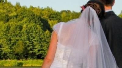 Zjawiskowa biała suknia ślubna