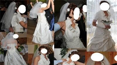 Zjawiskowa Suknia Ślubna Ekru