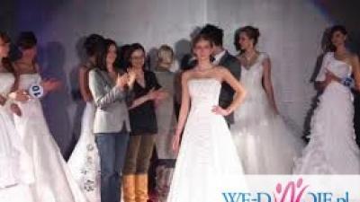 Zjawiskowa suknia ślubna SHELBY wysadzana k. Swarovski + halka gratis