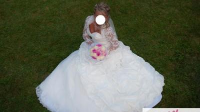 Zjawiskowo Piękna Suknia Ślubna+DODATKI