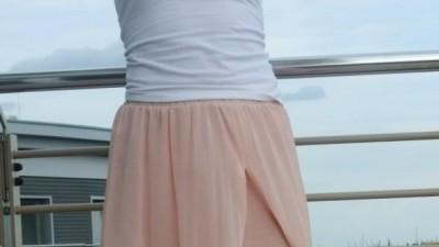 zwiewna  spodnica
