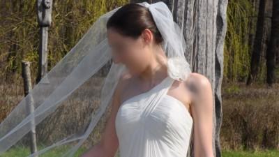 Zwiewna suknia typu empire San Patrick Eboli