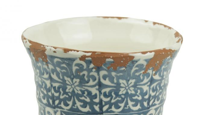 Ozdobna Doniczka Ceramiczna W Stylu środziemnomorskim