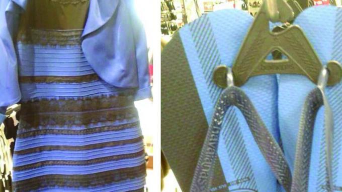 dec67ca7b5da3f Złudzenie optyczne - Jakiego koloru są te klapki - Ciekawostka - Buty i  torebki - Polki.pl
