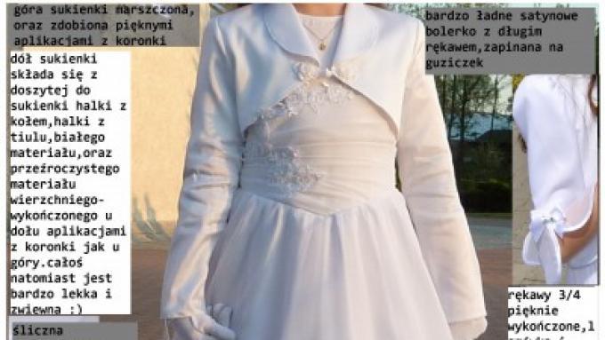 d4b0f2bf2f sukienka komunijna rozm.134-146 - Ubranka komunijne - Ogłoszenie - Komis