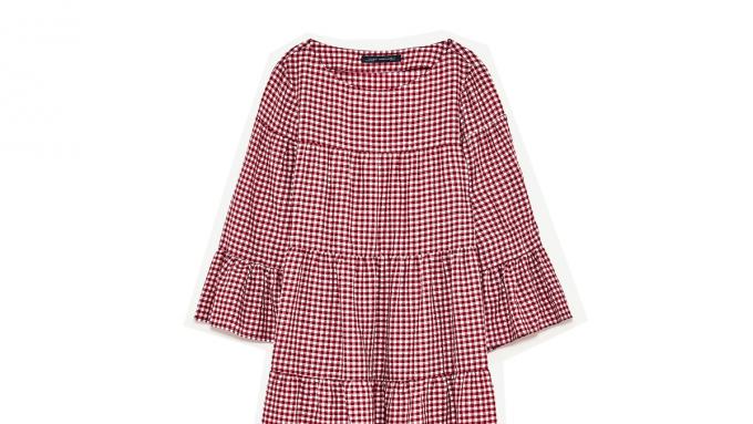 73c9a8fa83 Sukienka w kratkę Zara